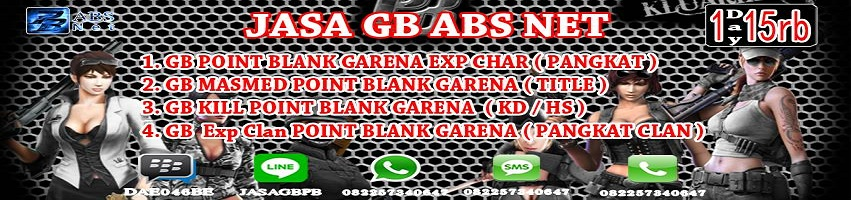 Jasa Gb Pb Point Blank Garena Absnet