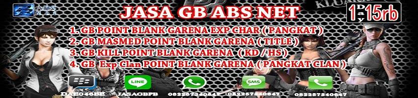 Jasa Gb Pb Point Blank Garena Absnet